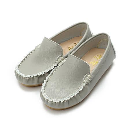 (中小童) TE TE 縫線套式休閒鞋 灰 鞋全家福