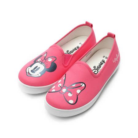 (中大童) DISNEY 米妮套式休閒帆布鞋 粉 鞋全家福