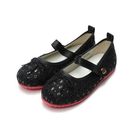 (中大童) TOPU ONE 亮片公主鞋 黑 鞋全家福