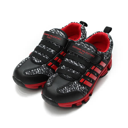 (中大童) GIOVANNI VALENTINO 布面休閒鞋 黑 鞋全家福