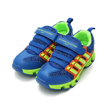 (中大童) GIOVANNI VALENTINO 布面休閒鞋 藍 鞋全家福