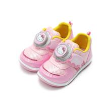 (中小童) HELLO KITTY 造型黏帶電燈鞋 粉 鞋全家福