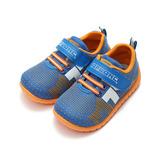 (中小童) TOPU ONE 印刷網布寶寶鞋 藍 鞋全家福
