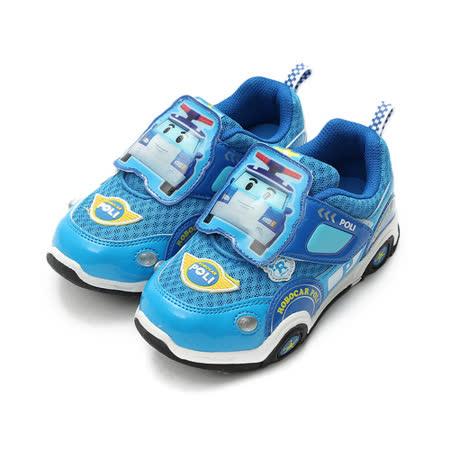 (中小童) 救援小英雄 POLI波力前燈運動鞋 藍 鞋全家福