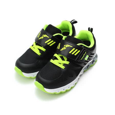 (中小童) GOODYEAR 輕量黏帶運動鞋 黑 鞋全家福