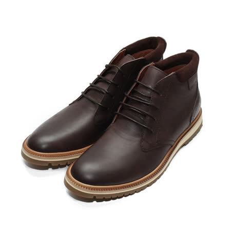 (男) Meurieio Belliei 半筒流行綁帶皮靴 深咖啡 鞋全家福