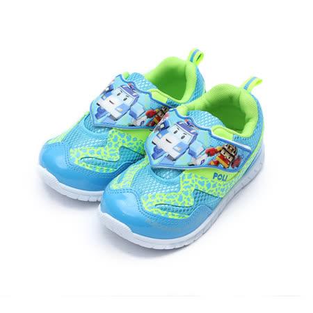 (中童) 救援小英雄 POLI波力黏帶鞋 藍 鞋全家福