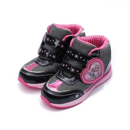 (大童) 冰雪奇緣 愛心中筒運動鞋 黑 鞋全家福