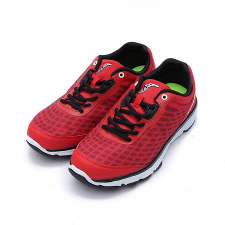 (男) GOODYEAR 緩震Q彈越野慢跑鞋 紅 鞋全家福