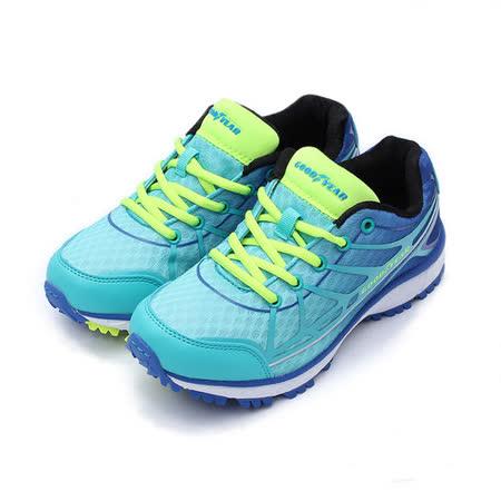 (女) GOODYEAR 戶外越野健走鞋 藍 鞋全家福