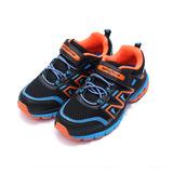 (大童) GOODYEAR 黏帶穩定跑鞋 黑橘 鞋全家福