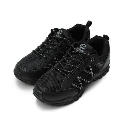 (男) GIOVANNI VALENTINO 輕量戶外運動鞋 黑 鞋全家福