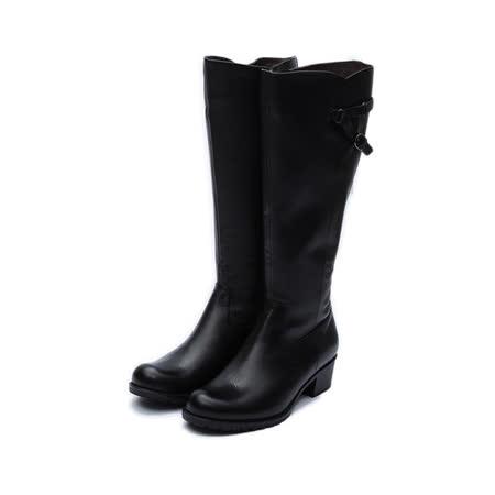 (女) LUZZI 高筒飾釦靴 黑 鞋全家福