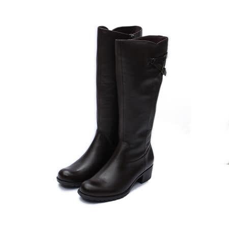 (女) LUZZI 高筒飾釦靴 咖 鞋全家福