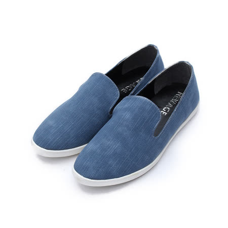 (女) NEW AGE 仿丹寧樂福鞋 藍 鞋全家福