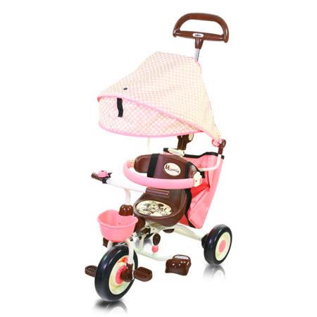 米妮摺疊敞篷三輪車(粉)/IDES/三輪車/兒童騎乘