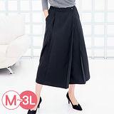 日本portcros預購-不對稱壓褶造型寬褲(共八色/M-3L)