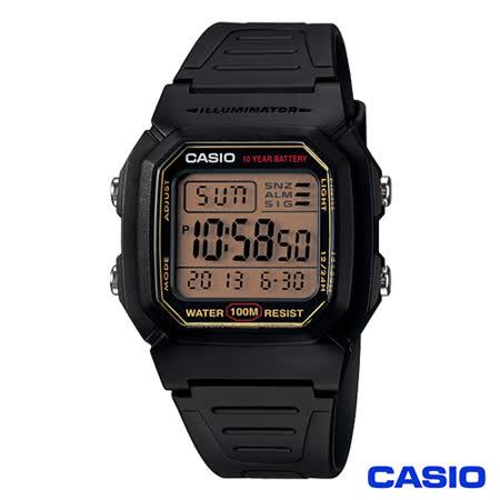 【CASIO 卡西歐】 數位電子式運動風中性錶  W-800HG-9A