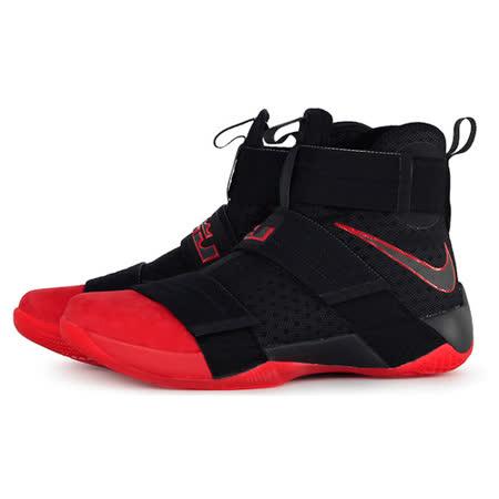 NIKE 男 LEBRON SOLDIER 10 SFG EP 籃球鞋 黑紅 852400060