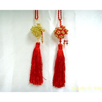 壓克力水晶錢袋吊飾-金紅