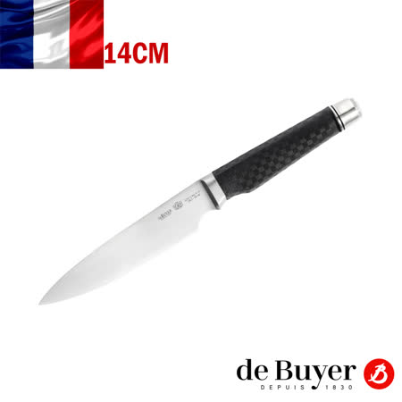 法國【de Buyer】畢耶刀具『FK2碳纖系列』萬用料理刀14cm