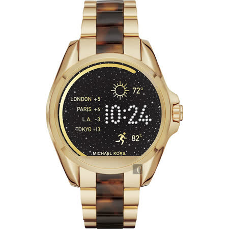 Michael Kors Access 觸控穿戴式智慧型腕錶-玫塊金x玳瑁/45mm MKT5003