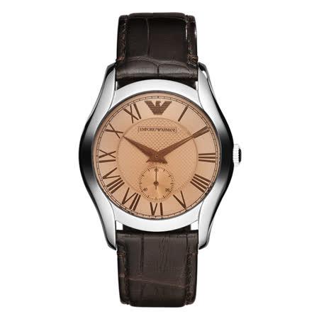 ARMANI 典藏雋永品味皮革女錶 AR1709