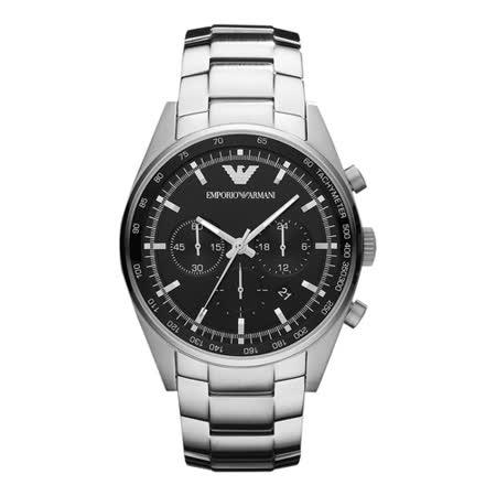 ARMANI 酷炫商務品味鋼帶腕錶 AR5980
