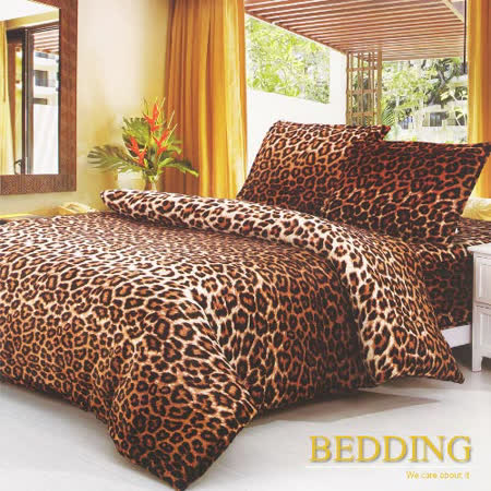 【BEDDING】超保暖法蘭絨 雙人加大四件式鋪棉床包兩用被毯組  蒙羅維亞