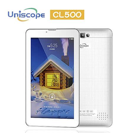 優思 Uniscope CL500 四核心7吋4G雙卡雙待通話平板※內附原廠側掀皮套+保護貼※