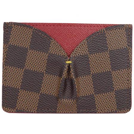 Louis Vuitton LV N61219 CAISSA 棋盤格紋信用卡名片夾.紅 現貨