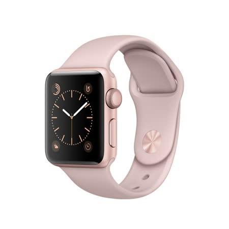 Apple Watch Series 2 智慧型手錶 (38mm) /A 38公釐 玫瑰金色鋁金屬錶殼 搭配粉沙色運動型錶帶