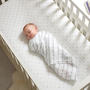 美國aden+anais新生兒外出包巾(4入)-和平灰系列AA-S114