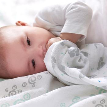 美國aden+anais新生兒外出包巾(4入)-粉嫩綠系列AA-S116