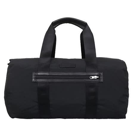 COACH 前口袋素色摺疊波士頓旅行袋(黑)