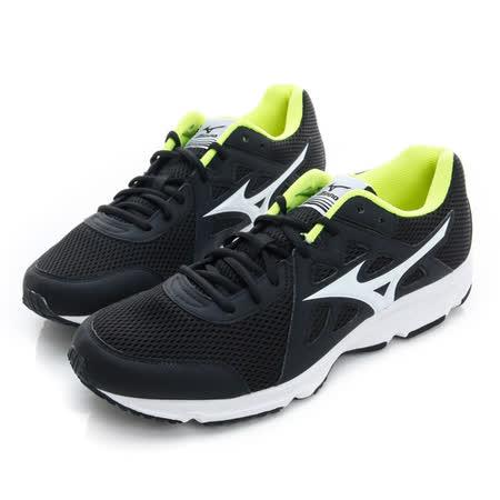 MIZUNO (男) 慢跑鞋 黑白 K1GA170301