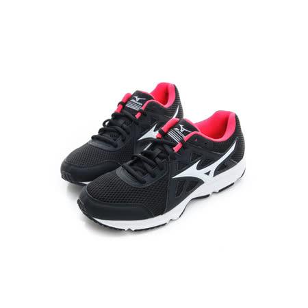 MIZUNO (女) 慢跑鞋 黑白 K1GA170402