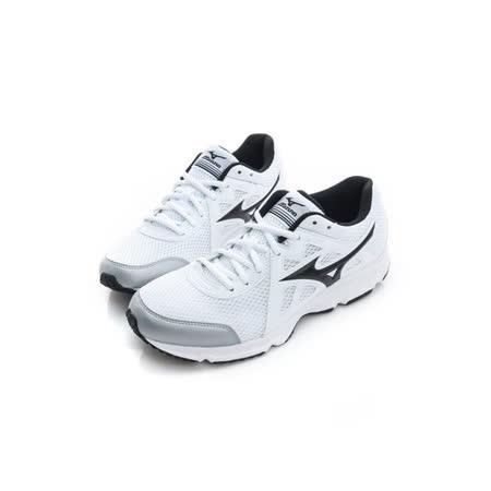 MIZUNO (男) 慢跑鞋 白黑 K1GA170010