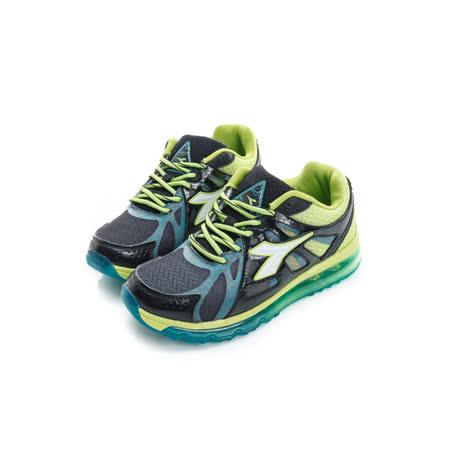 DIADORA (女) 慢跑鞋 黑綠 DA5AKR2680