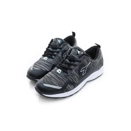 DIADORA (女) 慢跑鞋 黑灰白 DA6AWC3770