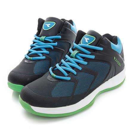 DIADORA (男) 籃球鞋 黑藍 DA5AMB2606