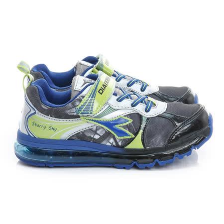 DIADORA (大童) 慢跑鞋 黑銀藍 DA6AKR3056