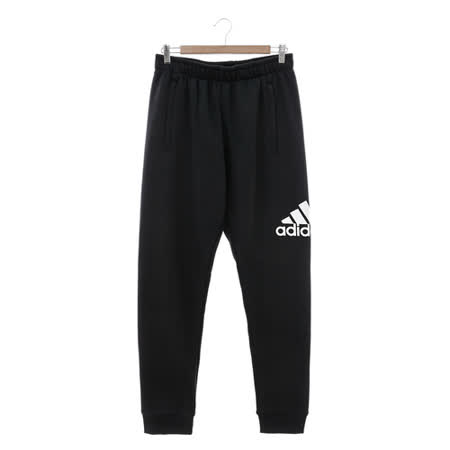 Adidas (男) 運動棉長褲(薄) 黑 AB6527