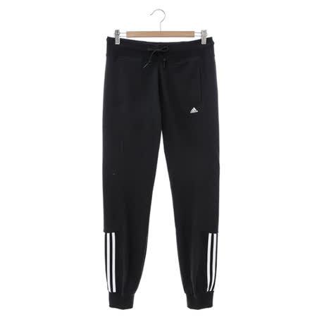 Adidas (女) 運動棉長褲(薄) 黑 S18824