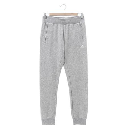 Adidas (女) 運動棉長褲(薄) 淺灰 AZ4900
