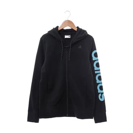 Adidas (女) 棉質--運動外套(連帽) 深藍 AY4848