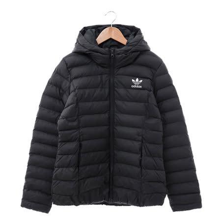 Adidas (女) 棉質--運動外套 黑 AY4747