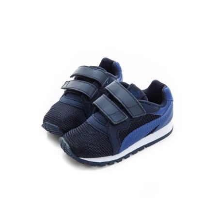 PUMA(小童)經典復古鞋 黑藍 36126201