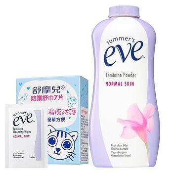 summer`s eve舒摩兒 舒粉舒巾7片 組