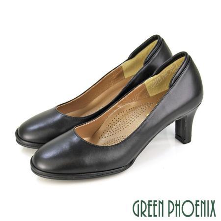 【GREEN PHOENIX】優雅質感素面高跟鞋